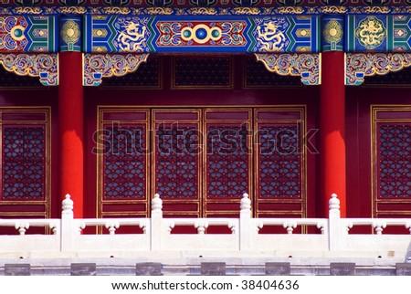 Yellow rooftops inside forbidden city Beijing