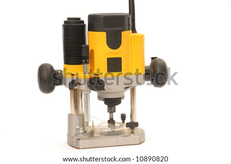 yellow router on white background