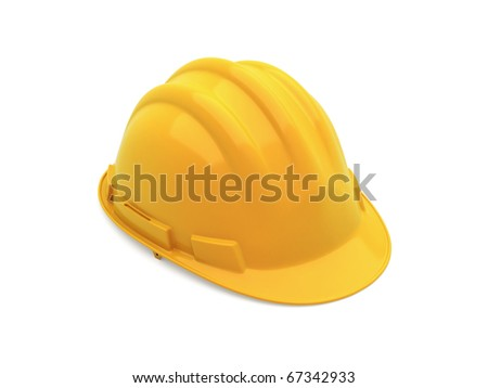 yellow safety helmet (clipping path)