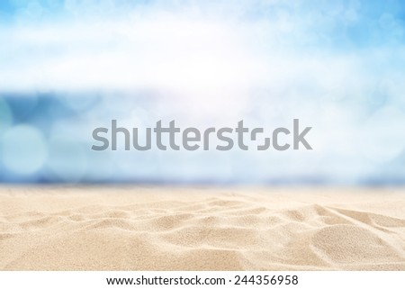 yellow sand and sky of blue  - Shutterstock ID 244356958