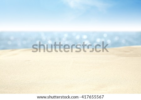 yellow sand and travel time and sea and sky place  - Shutterstock ID 417655567