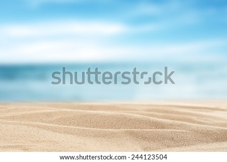 yellow sand background and decoration  of sea sky and sun