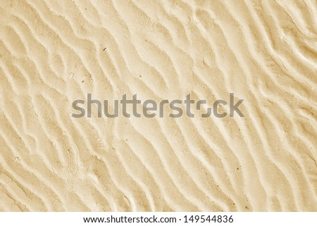 Yellow sand background in Cayo Guillermo, Cuba