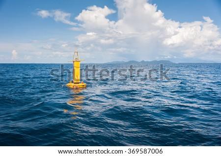 Yellow Sea Buoy, in Andaman Sea, Thailand