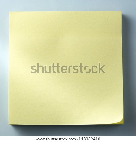 yellow sheet of paper for notes