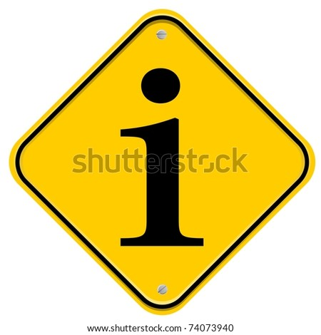 Yellow sign with Info icon