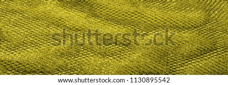 Yellow silver mesh fabric, with a woven metallic thread. Bring it back in the 1920s with this extravagant silvery and black geometric yellow mesh. Grab it while he's still here, #1130895542