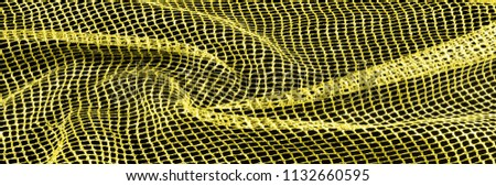 Yellow silver mesh fabric, with a woven metallic thread. Bring it back in the 1920s with this extravagant silvery and black geometric yellow mesh. Grab it while he's still here, #1132660595