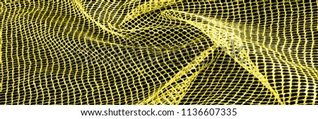 Yellow silver mesh fabric, with a woven metallic thread. Bring it back in the 1920s with this extravagant silvery and black geometric yellow mesh. Grab it while he's still here, #1136607335