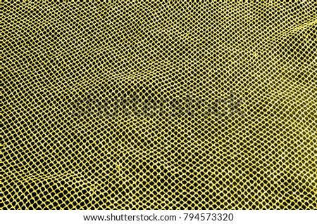 Yellow silver mesh fabric, with a woven metallic thread. Bring it back in the 1920s with this extravagant silvery and black geometric yellow mesh. Grab it while he's still here, #794573320
