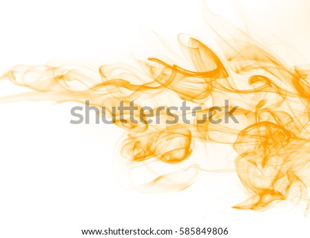 Stock Photo Yellow smoke motion abstract on white background
