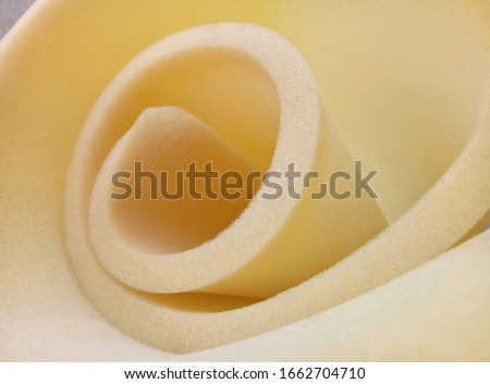 yellow sponge foam roll with circular and conical shape