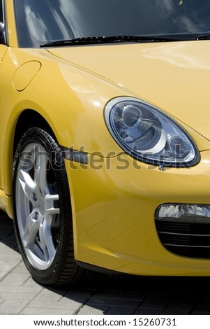 yellow sport car #15260731