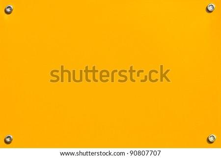 Yellow steel panel - stock photo