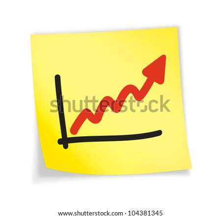 "Yellow sticky note ""chart"", illustration"