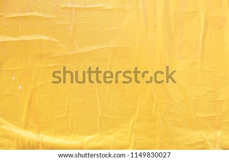 yellow street poster texture background