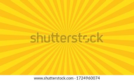 Yellow sun rays. Pop art and comic style backgound. Сток-фото ©