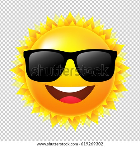 yellow sun with sunglasses