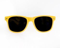 Yellow Sunglasses white backgound