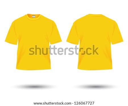 yellow t-shirt illustration on white. - Shutterstock ID 126067727
