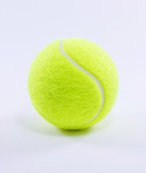 Yellow tennis ball, clear background, white background