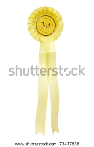 yellow third place rosette studio cutout