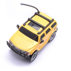 yellow toy jeep on the remote control