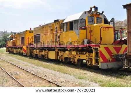 Yellow train in Jordan,Amman