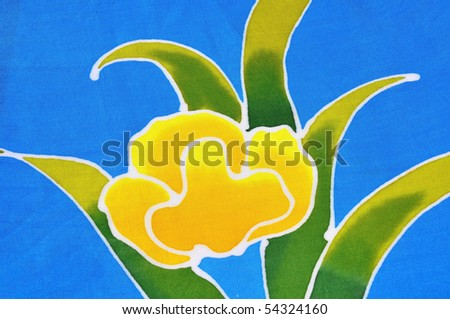 Yellow tropical flower useful  as  background pattern