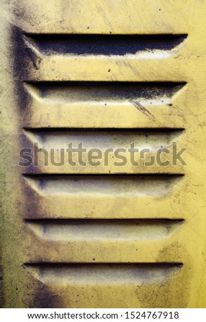 Yellow truck door vent filled with grime and dust #1524767918