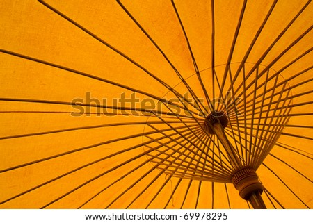 yellow umbrella background