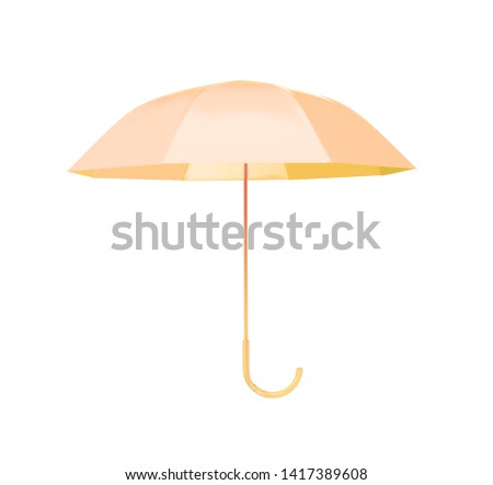 dfb306e9ee4bd yellow umbrella concept rendered isolated 3d render
