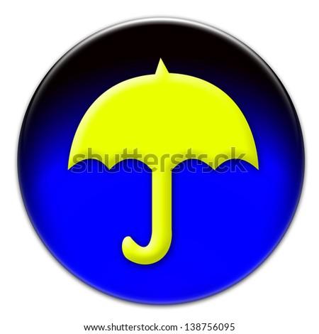 Icon Yellow Yellow Umbrella Icon