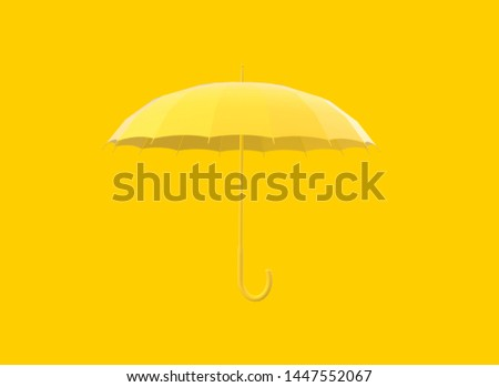 2ab7c5a010d64 Yellow umbrella on yellow background 3D Rendering