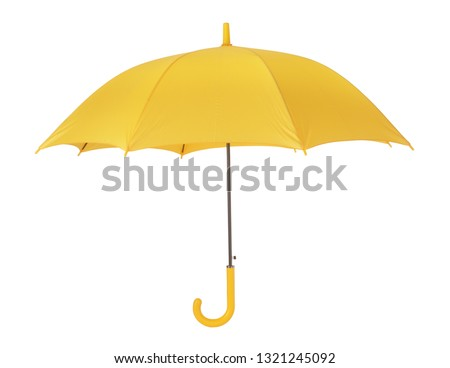 Yellow umbrella open #1321245092