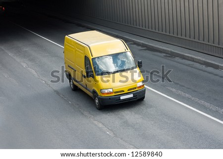 "yellow van  - See similar images of this ""Business vehicles"" series in my portfolio"