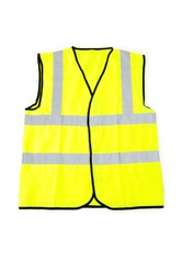 Yellow vest isolated on the white background