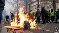 Yellow Vest Movement in Paris, France