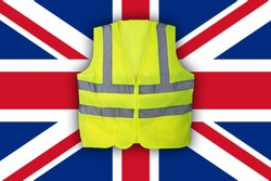 Yellow Vest Protest, British, UK Flag Clean