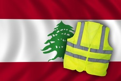 Yellow Vest Protest, Lebanon Flag Clean