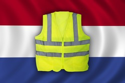 Yellow Vest Protest, Netherlands, Dutch Flag Clean