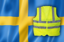 Yellow Vest Protest, Sweden Flag Clean