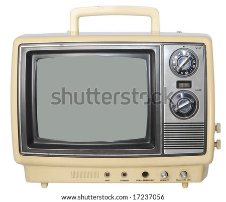 Yellow Vintage TV set