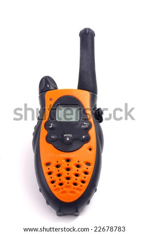 Yellow walkie talkie