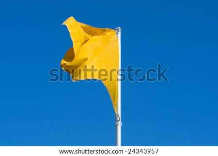 Yellow warning flag at the Beach