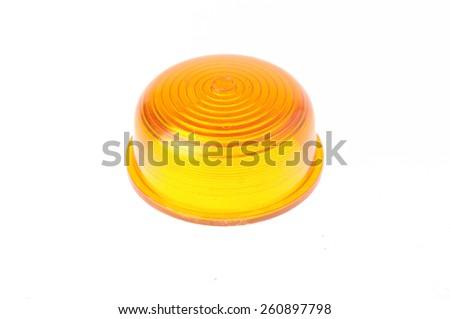 yellow warning light isolated on white  #260897798