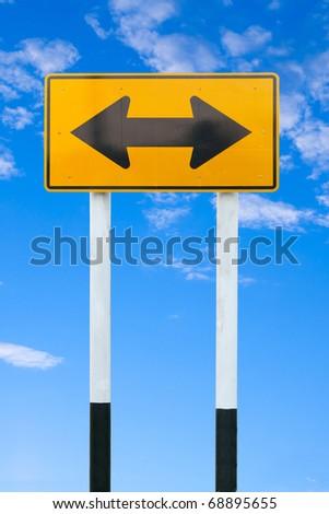yellow warning sign