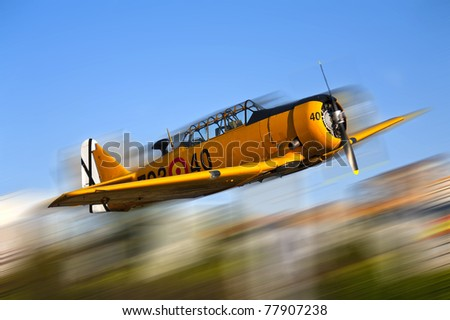 Yellow warplane