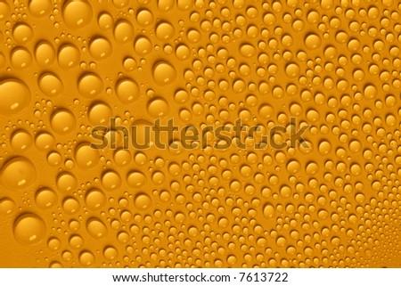 Yellow water drops
