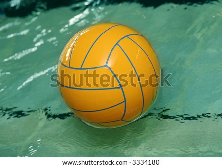Cartoon Water Polo Ball